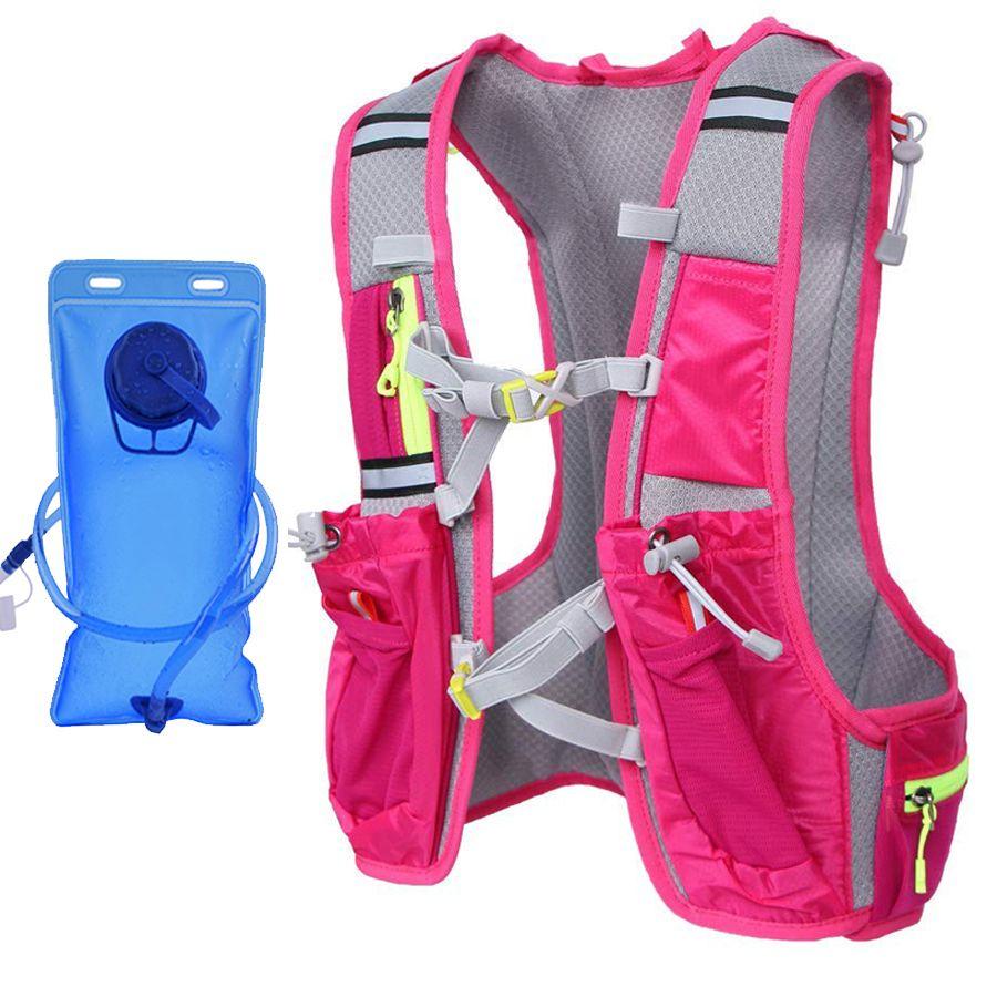c06dde40d7 2019 Women Running Backpack Water Bottle Holder Waterproof For Phone Trail  Fanny Pack Running Sport Marathon Hydration Camping Bag From Nicebetter, ...