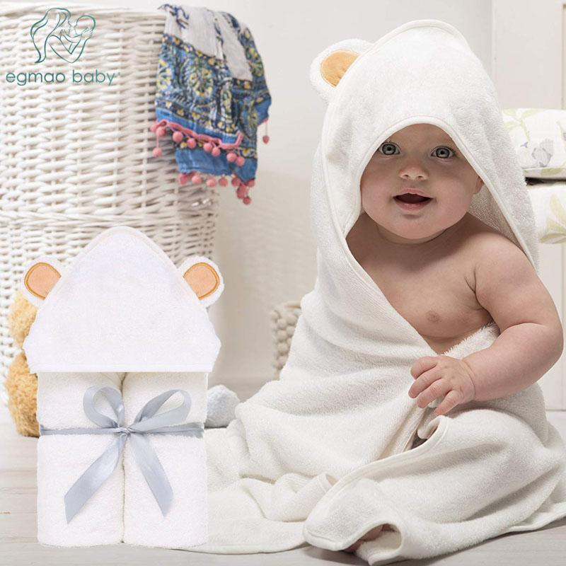 Premium Baby Towel Baby Washcloth Set Organic Bamboo Baby Bath Towel Extra Soft And Thick Newborn Hooded Towel Washcloth