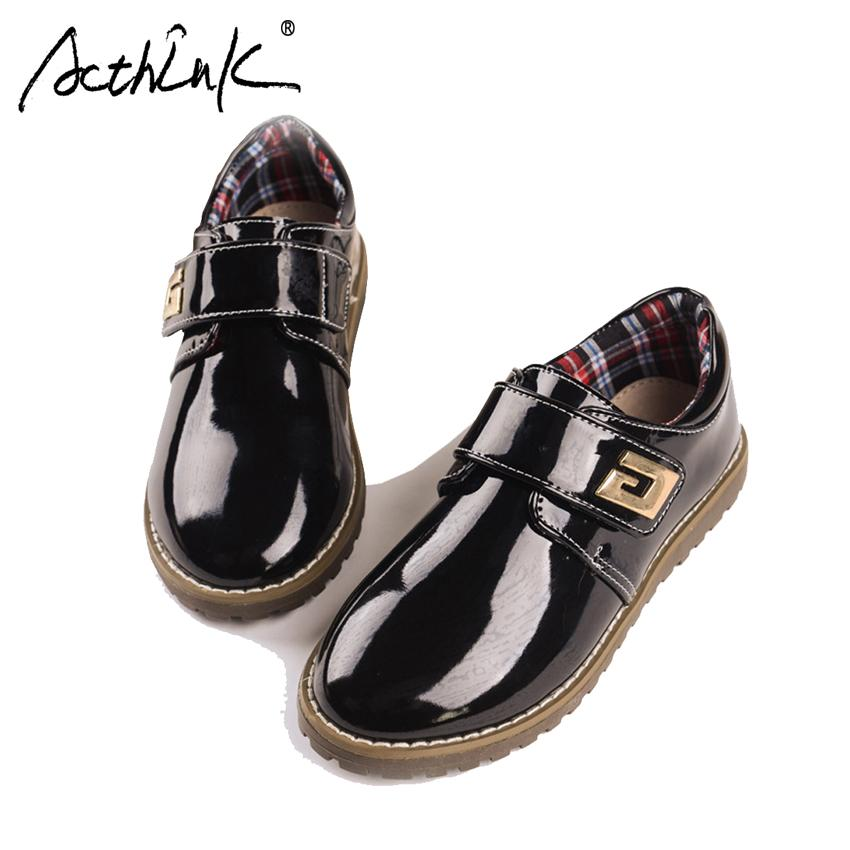 Acthink New Boys Genuine Leather Shoes Children Formal