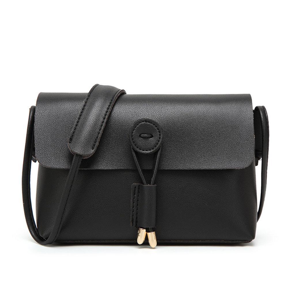 4d2e3272a3f Compre Bolso Mensajero Negro Para Mujer Diseño Clásico Pequeño Bolso  Bandolera Para Mujer Pu Tote Bolsa Bolsas A2969 A  30.71 Del Hopemoney04