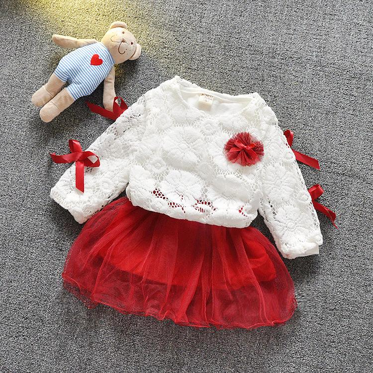 Autumn Baby Girls Dress Infant Girl Long Sleeve Patchwork Mesh Princess Dress Kids Clothes Dresses baby clothes