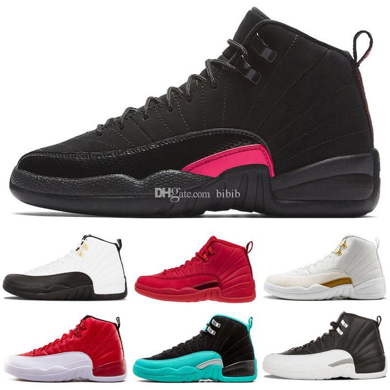 pretty nice 65cb5 f0207 Jumpman 12 12s XII Kids Basketball Shoes Mens Women Gym Red Wntr Triple  Playoff Flu Game Nrg PRM Wing Doernbecher Baskets Ball Shoes