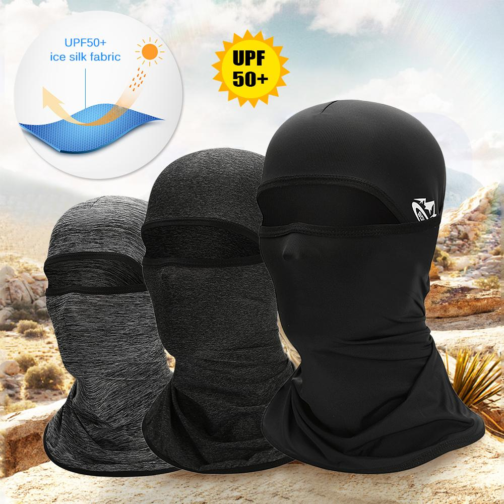 Cycling Sun Protection Face Mask Helmet Liner Balaclava Cooling Ice Silk Neck Gaiter Summer UV Protection Headgear Bicycle Wear