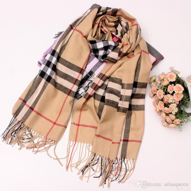 1d03b94fe7bcf Cashmere Scarf Pashmina Classic Plaid Soft Warm Scarf Wrap Blanket For Men  And Women 70 X 210cm Knit Scarf Black Shawl From Ailsaqueen