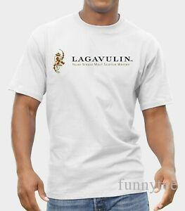 Lagavulin Single Malt Whisky Drings T-Shirt Herren Shirt Grau Weiß