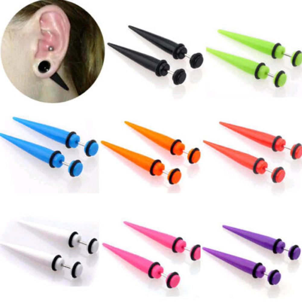 ! New Design Personality Rivet Taper Spike Stud Earrings For Women and Men Cone Punk Rock Gothic Jewelry