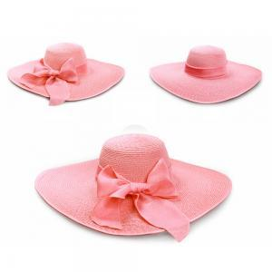 Women Bowknot Wide Brim Hat Folding Fashion Summer Beach Garden ... 66281270b252