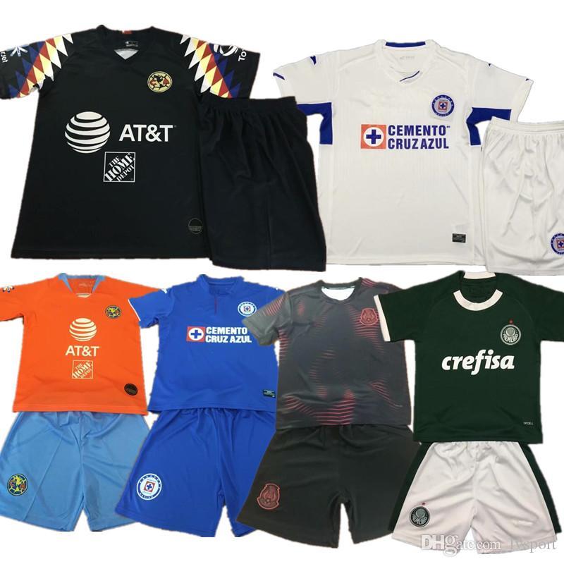 d82cee4fc7c Kids Kits 2019 LIGA MX Club America Cruz Azul Soccer Jersey Mexico ...