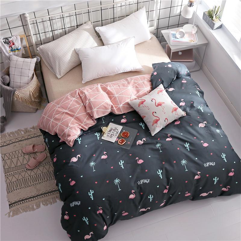 Großhandel Mode Flamingo Muster Bettwäsche Baumwolle 1 Stücke