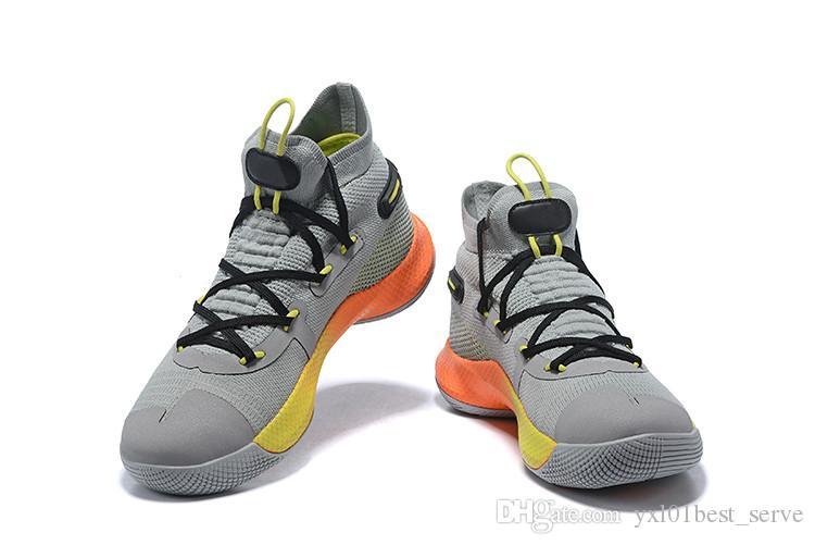 4cf84591666 Compre 2019 New Arrival Curry 6 Alta Fox Teatro Preto Vermelho Stephen  Sapatos De Basquete Para A Boa Qualidade 6 S Marca Sneakers Sports Trainers  EUR 40 46 ...