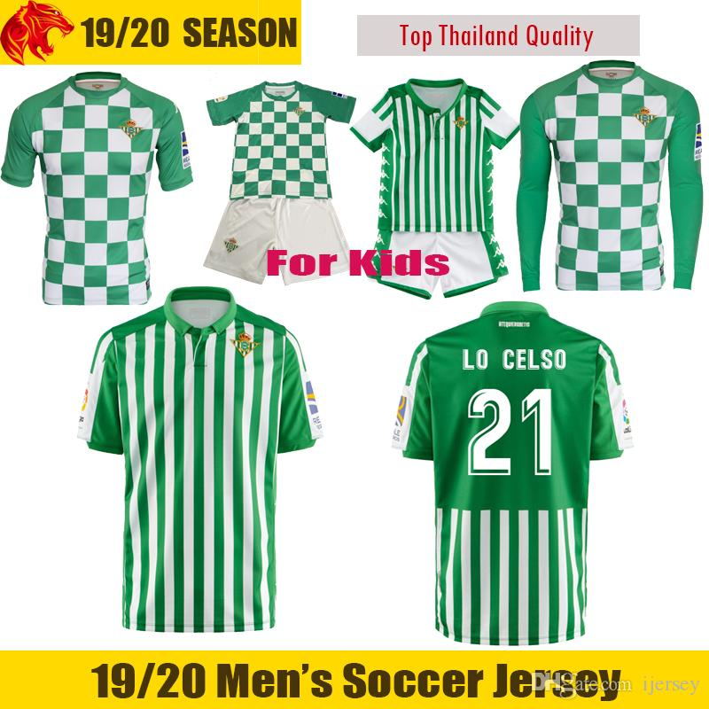 huge selection of ee487 5a4ff 19 20 Real Betis Soccer Jersey LO CELSO 2019 2020 LOREN CANALES Football  Shirt Betis Recycled Match Jersey JESE JOAQUIN Betis Kids Jersey