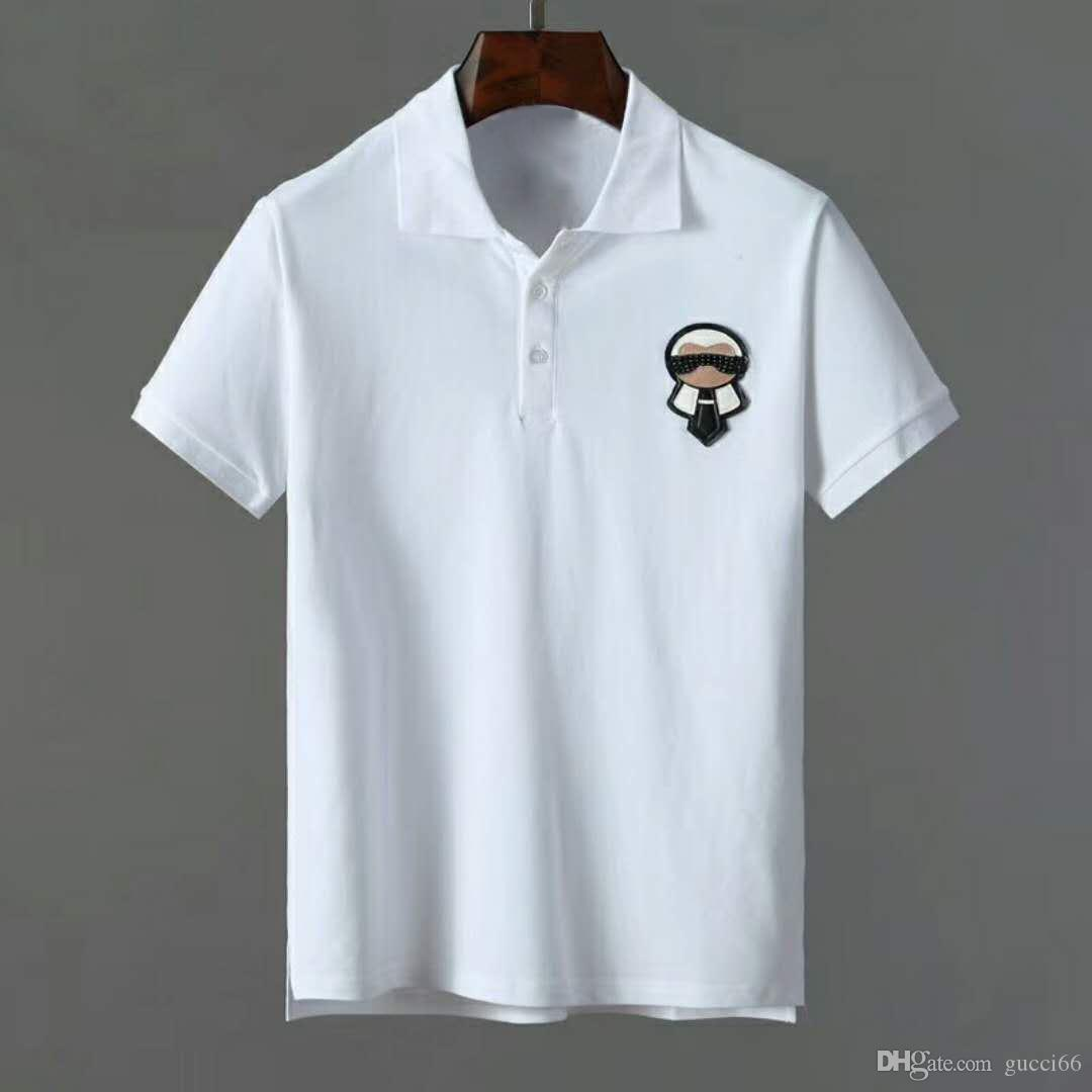New Classic Men Polo T Shirts Cute Eyes Embroidery Fashion Casual