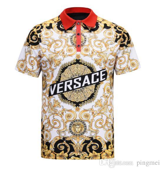7da8e160 New 2019 Spring Luxury Italy Tee T Shirt Designer Polo Shirts High Street  Embroidery Garter Medusa Printing Clothing Mens Brand Polo Shirt Cool  Looking T ...