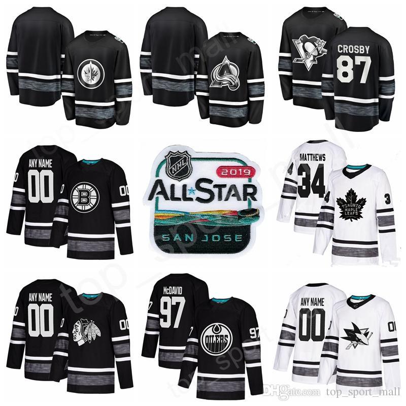 2019 2019 Hockey Jerseys All Star Game 96 Mikko Rantanen 29 Nathan  MacKinnon 26 Blake Wheeler Mark Scheifele Pekka Rinne Roman Josi Black  White From ... ab183b0c5