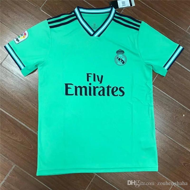 san francisco 37e81 59818 2019 20 Real Madrid third green Soccer Jersey BALE MARCELO ISCO BENZEMA  VINICIUS JR MODRIC ASENSIO KROOS SERGIO RAMOS MARIANO Football shirt