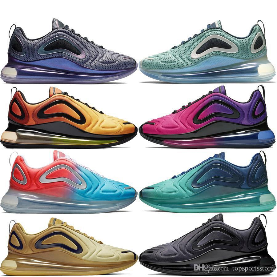 sports shoes afbcd 48b67 Acquista Nike Air Max 720 Airmax 720 Air 720 Sneaker 720 Scarpe Da Corsa  Uomo Donna Sunrise Sunset Aurora Boreale Carbon Grey Gold Sea Forest Total  Eclipse ...