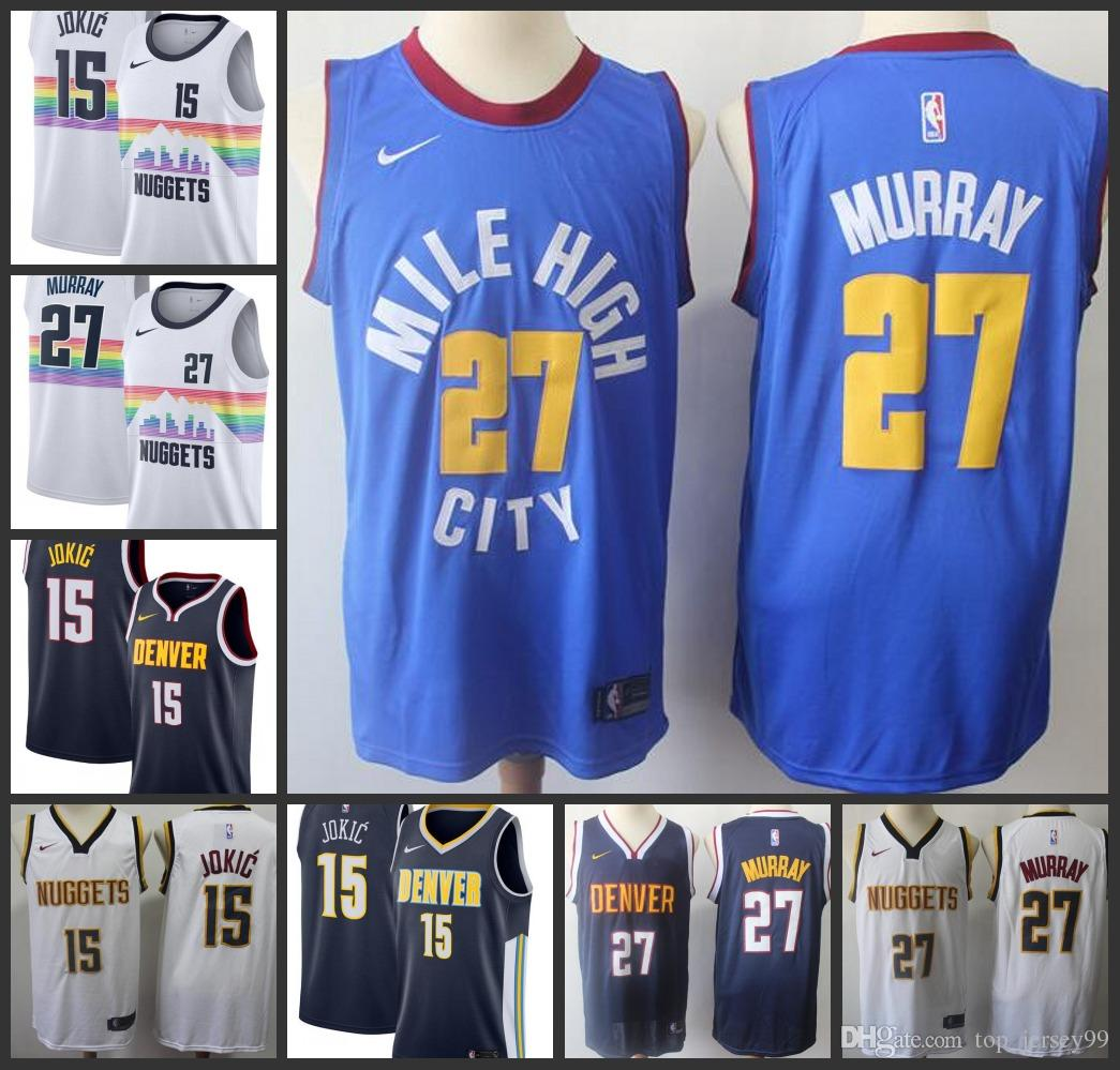 40bf1024eb7 2019 2019 Season New Styles Denver Mens Nuggets Jersey Jamal Murray Nikola  Jokic City Jerseys Edition From Outlet jersey 02