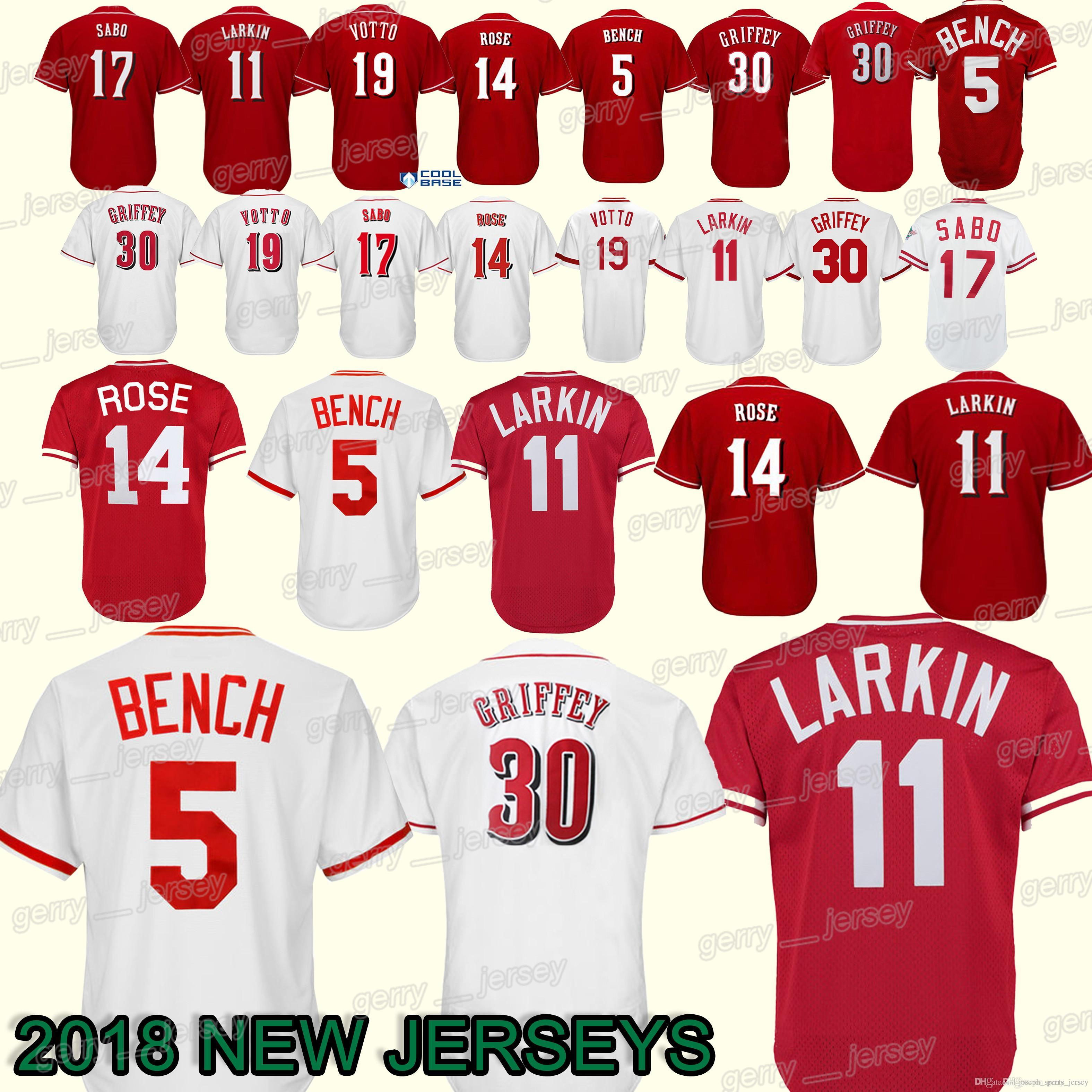 buy online 85071 02fba wholesale cincinnati reds barry larkin jersey 095f6 c0840
