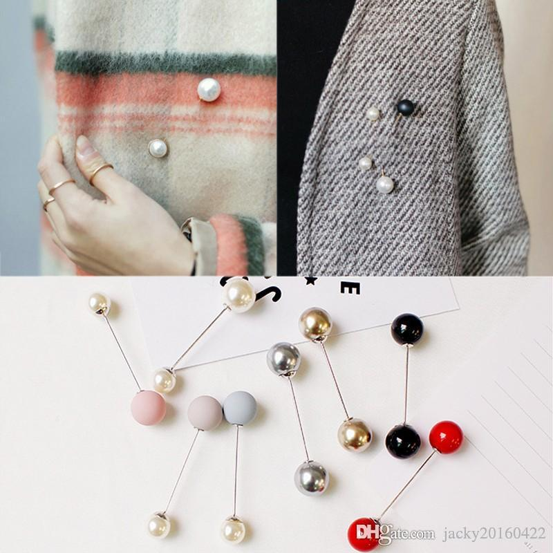 a7b16506d39 2019 Fashion Woman/Girl Imitation Pearl Brooch Classic Charm High Quality  Accessories Simple Double Pearls Brooches All Match From Jacky20160422, ...