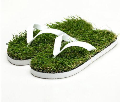 16dd50a22fd 2018 New Men Imitation Grass Flip Flops For Man Summer Beach Flat Shoe Out Slipper  Slippers Winter Boots For Women Boots Online From Ajkobeshoes