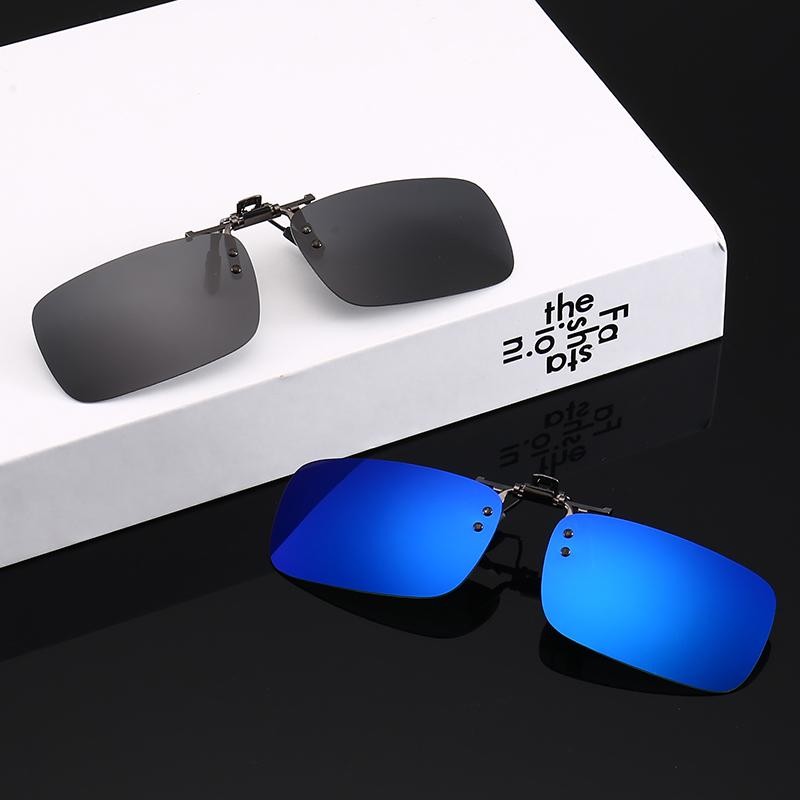 40af63fe10 Monochromatic Polarizing Clip Fishing Sunglasses Driving UV400 Myopic  Glasses For Men And Women Anti Ultraviolet Sunglasses Clip Womens Sunglasses  ...