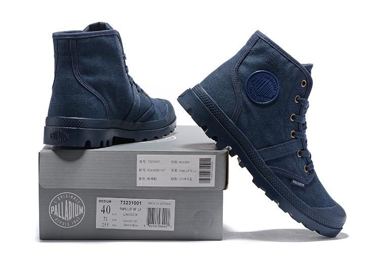 Con Hi Zapatos 52352 Azules Alta Casuales Palladium Calidad Cordones Pampa Lona Los Cowboy Cómodas De Deporte Zapatillas Hombres Botines 8nNy0Owvm