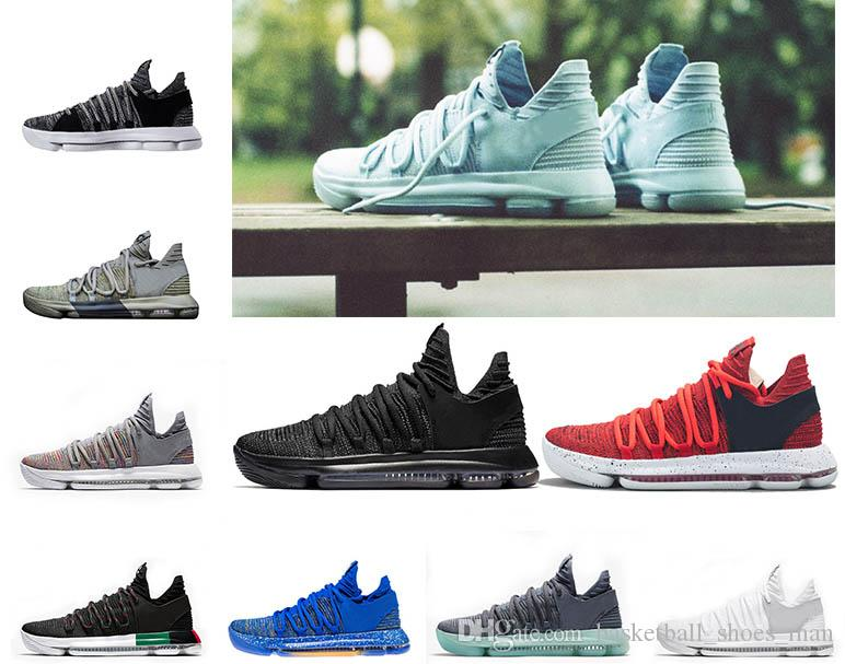 finest selection af9e6 6e4be 2019 Fashion Zoom KD 10 Anniversary PE BHM Red Oreo Triple Black Men  Basketball Shoes KD10 Elite Low Kevin Durant Athletic Sneakers 8 12 From ...