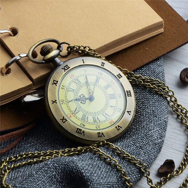 Taschenuhr Römischen Kette Männer Charakter Uhr Ziffern Uhrzeit Watchglass Halskette Anhänger Fob Dial Einzigartige Mit Vintage Frauen fvIY6ym7bg