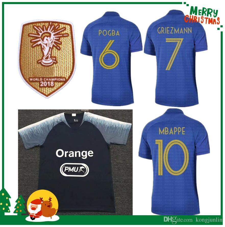 28483e33de09 2019 100th France MBAPPE GRIEZMANN POGBA Jerseys 2019 Anniversary Soccer  Jersey Navy Football LEMAR Shirts Training Wear Kids Kit Maillot De Foot  From ...