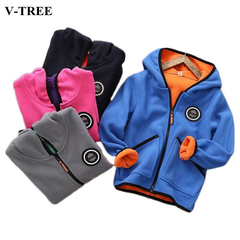 a7a9e580d Winter Children Outerwear Fleece Jacket For Girls Thicken Boys Coats ...