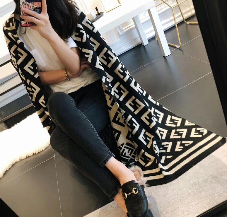 sports shoes cae27 f1eff Moda Inverno Top Cashmere Marca Luxury Warm Sciarpa per Donna Uomo F  Designer Large Coperta Sciarpe Infinity Sciarpe Scialle Sciarpe