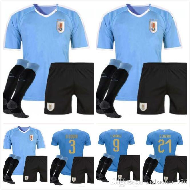 size 40 9033b d4c68 Adult kit 2019 Copa America Uruguay Soccer Jersey 19/20 9 L.suarez 21  E.cavani Soccer Shirt #3 D.GODIN Away National Team Football Uniforms