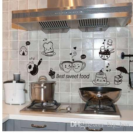 Kitchen Wall Stickers Coffee Sweet Food Diy Wall Art Decal
