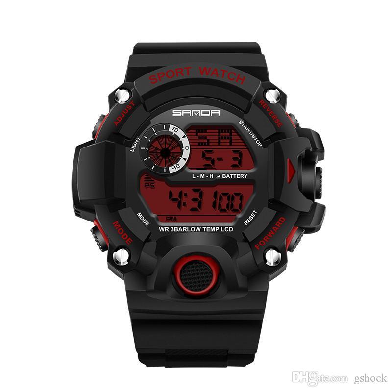 2018 Neue Marke Sanda Uhr Männer Military Sportuhren Fashion Silikon Wasserdichte Led Digital Uhr Für Männer Uhr Reloj Hombre Herrenuhren Digitale Uhren