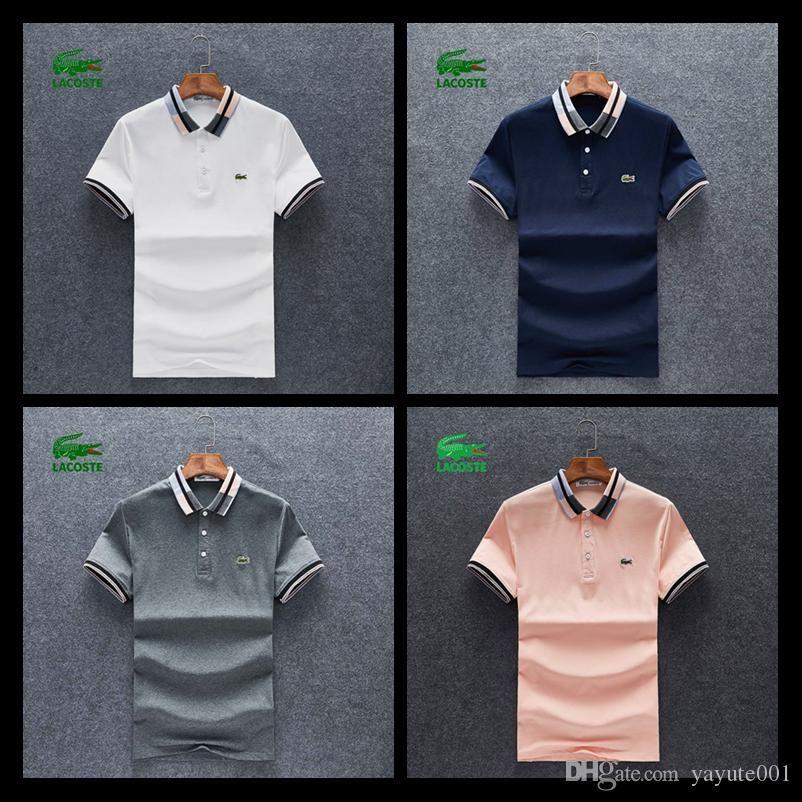 82530dcf91dd73 Acquista Guozh Summer Designers Polo Uomo Camicia Da Uomo Casual Polo  Ricamo Cotone Polo Uomo Manica Corta Alta Quantità Polo Uomini A $25.24 Dal  Guozh3 ...