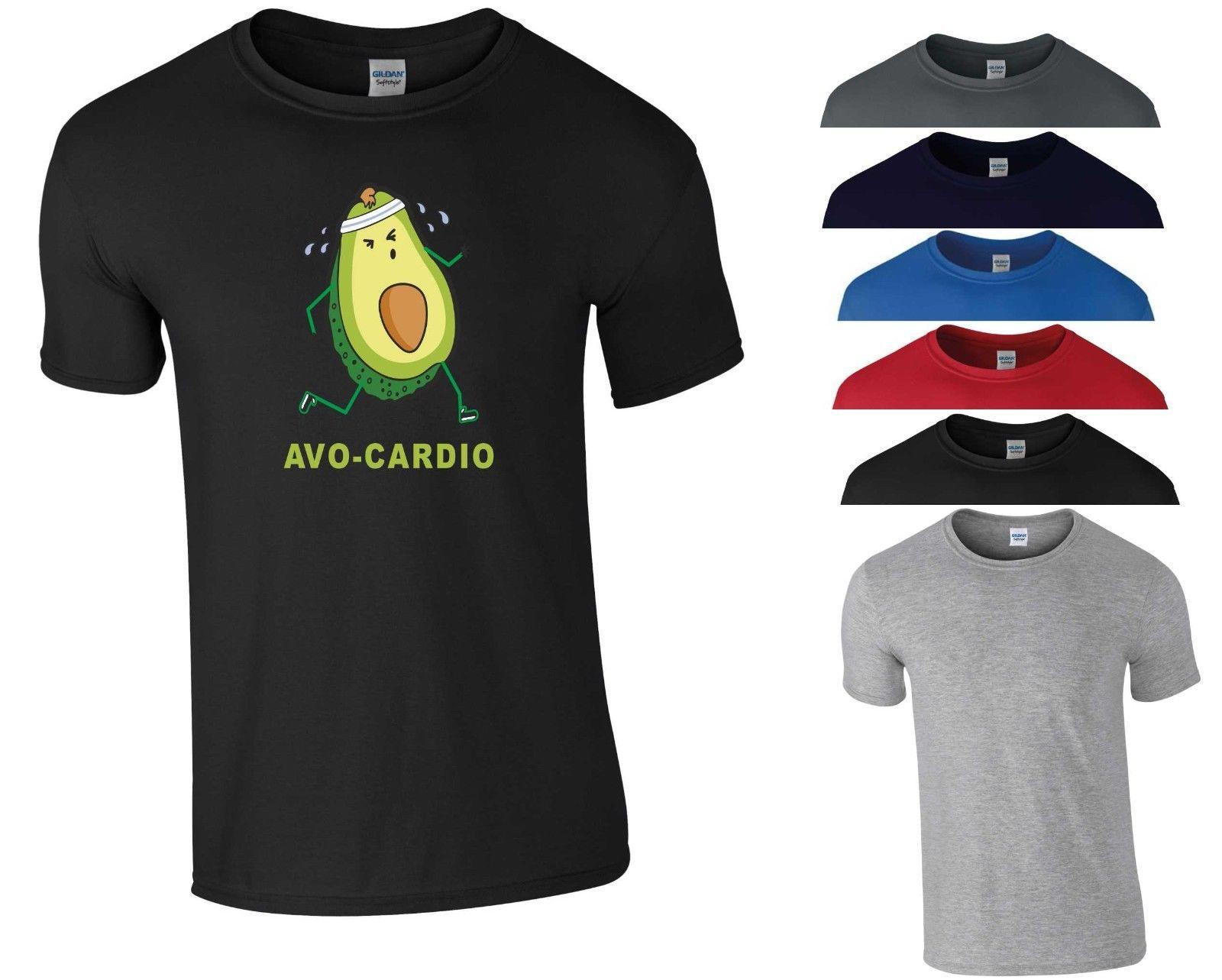 2cc42e0d Avocardio T Shirt Vegan Funny Gym Workout Avocado Fittness Exercise Gift Men  Top Funny Unisex Casual Tee Gift T Shirt Site Online Tees From  Shirt_monkey, ...