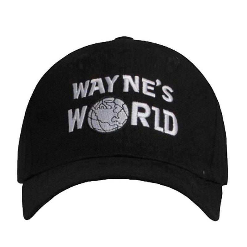 e099cc18587dd 3 pcs Wayne s World Black Cap Hat Baseball Cap Costume Fashion Style  Cosplay Embroidered Trucker Hat Unisex Mesh Cap Adjustable Size