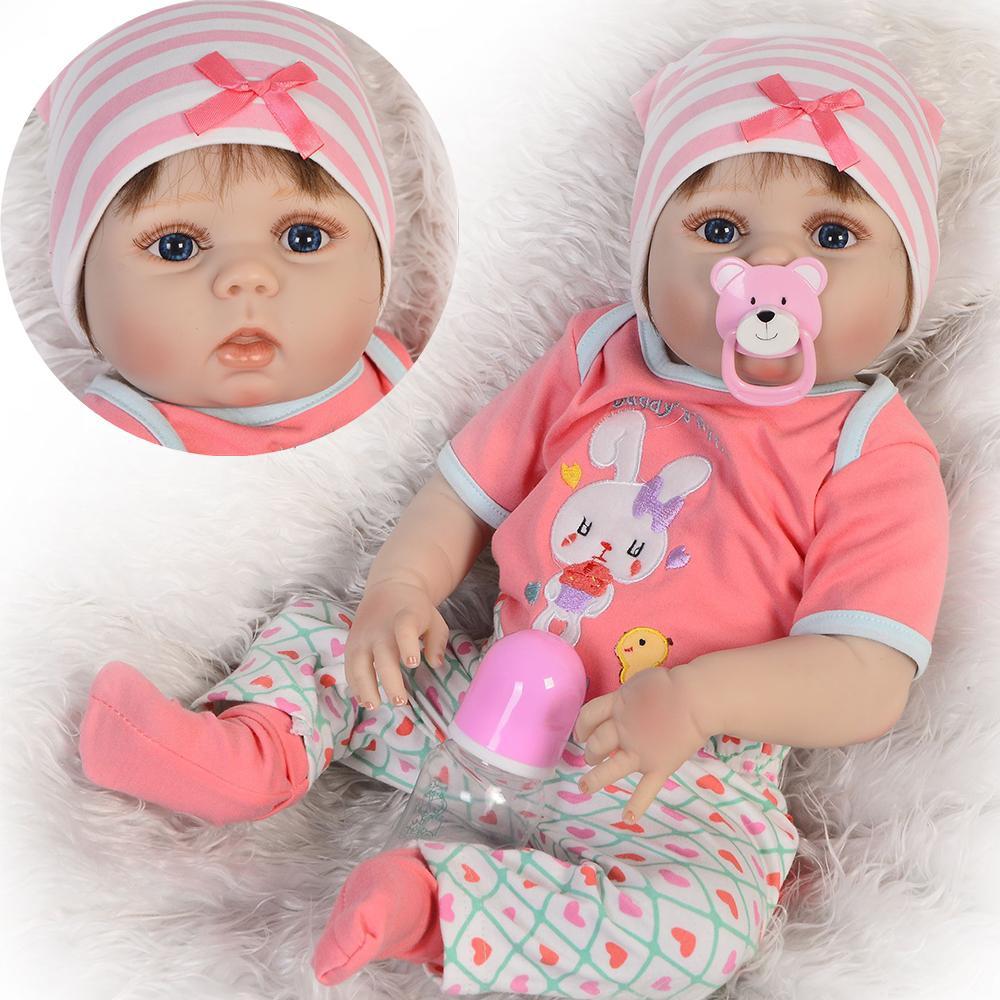 7a5d235ac7d Compre Bebes Reborn Dolls Realista Niña Recién Nacida Muñeca Bebé De  Silicona Suave De Cuerpo Completo De Vinilo Boneca Doll Para Niños Juguetes  De ...