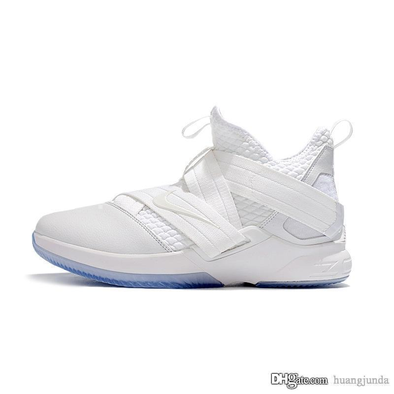 best website 02852 56e5a Cheap lebron soldier 12 SFG basketball shoes for men Pure White Triple  Silver Platinum Aunt Pearl Oreo BHM soldiers xii sneakers with box