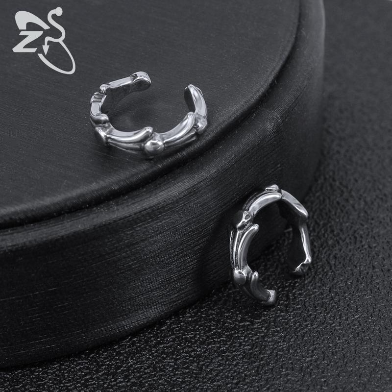 Orecchini a clip della cartilagine Hip Hop delle donne di ZS Skull Stars Shape Ear Cuff gioielli da uomo in acciaio inossidabile Jewellry No orecchino piercing