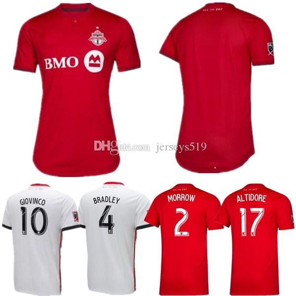 size 40 015c8 f10fd Thailand 2019 2020 Toronto FC Soccer Jerseys BRADLEY GIOVINCO ALTIDORE  OSORIO 19 20 Toronto Home Red Custom Football Shirt Uniform