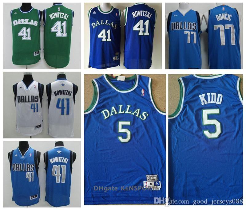 2019 Retro Dallas 2019 Mavericks Basketball Jersey  5 Jason Kidd 77 Luka  Doncic 41 Dirk Nowitzki Stitched Basketball Jerseys From Kristen stewart 31d53bfdb26c