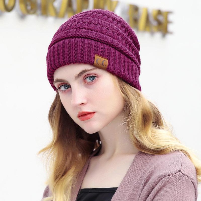 5c2cbdc0f1497 Fashion Women S Winter Hat Cap Soft Knitted Winter Hats For Ladies Warm  Skullies Beanies Hat Female Outdoor Causal Cc Beanie Baseball Hat Beach Hats  From ...