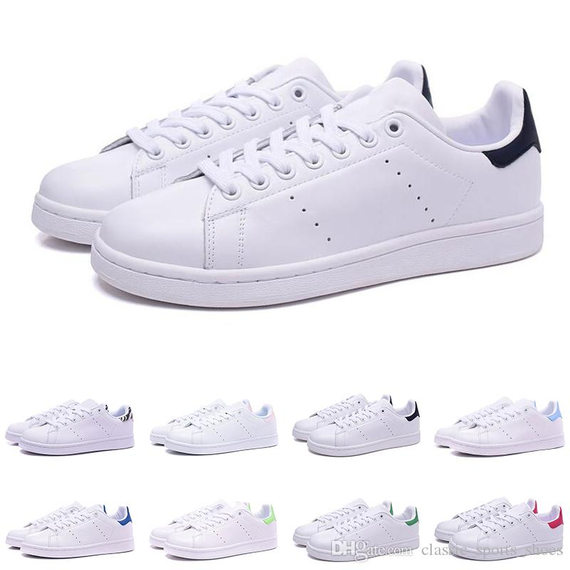 adidas 2019 sneakers männer frauen smith schuhe beste qualität stan schwarz weiß grün rosa rose rot designer mode leder casual schuhe zum verkauf