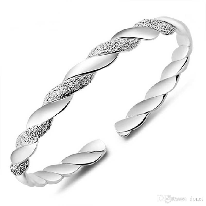 High Quality Korean Silver plated Cuff Bangle women Open Hand bracelet For Ladies Fashion Jewelry Gift accessories