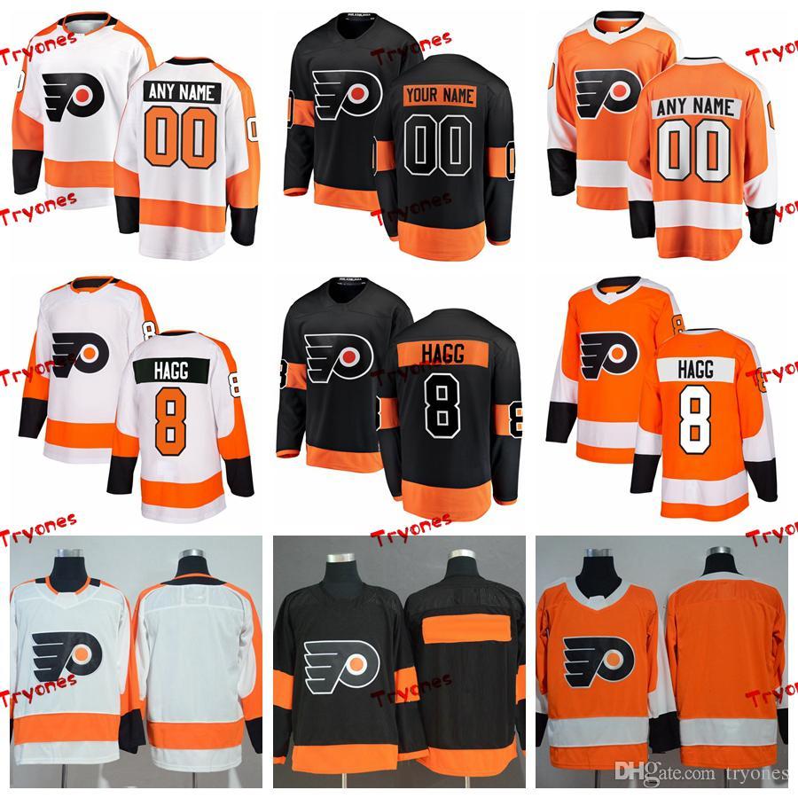 572bbc05521 2019 2019 Robert Hagg Philadelphia Flyers Stitched Jerseys Customize Home  New Alternate Black Shirts #8 Robert Hagg Hockey Jerseys S XXXL From  Tryones, ...