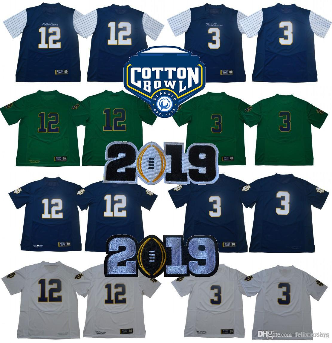 7a7159a12 2019  3 Joe Montana 2019 Championships Notre Dame Fighting Irish 12 Ian  Book College Football Jerseys Blue White Green From Felixjerseys