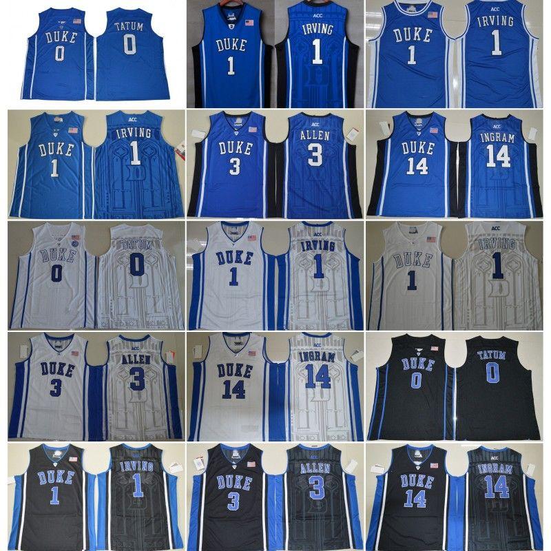 best service 38228 d2f26 Duke Blue Devils College Kyrie Irving Jersey 1 Men Blue Black White Grayson  Allen 3 Jayson Tatum 0 University Basketball Jerseys Uniform