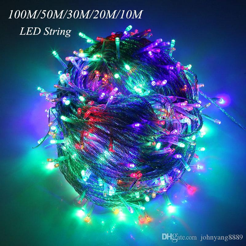 Lights & Lighting Lighting Strings Yon 10m 20m 30m 50m 100m Led String Fairy Light Holiday Decoration Ac220v 110v Waterproof Outdoor Light With Controller Excellent Quality