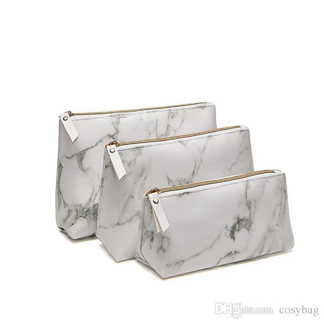 9126758821 2019 Marble PU Brush Makeup Bag Cosmetics Bag Zipper Closure Marble Handbag  Pouch Beauty Makeup Brush Holder Makeup Tool From Cosybag